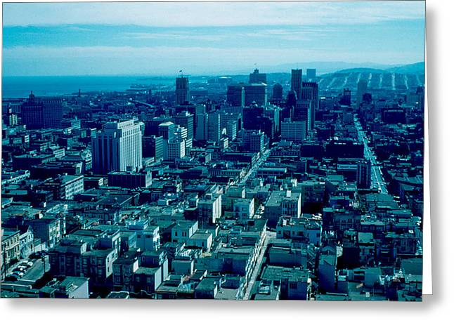 San Francisco 9 1955 Greeting Card by Cumberland Warden
