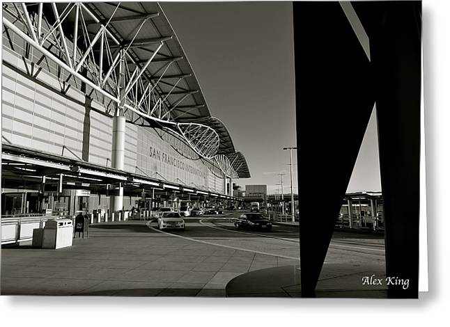 Greeting Card featuring the photograph San Francisco Airport by Alex King