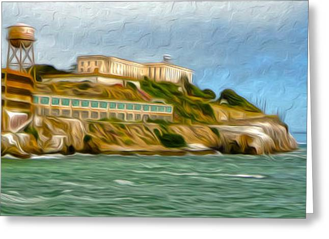 San Francisco - Alcatraz - 02 Greeting Card by Gregory Dyer