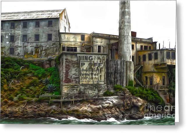 San Francisco - Alcatraz - 04 Greeting Card by Gregory Dyer