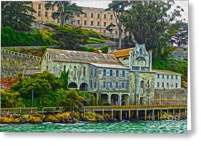 San Francisco - Alcatraz - 06 Greeting Card by Gregory Dyer