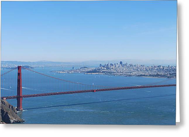 San Francisco And The Golden Gate Bridge Greeting Card by Twenty Two North Photography