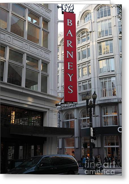 San Francisco Barneys Department Store - 5d20544 Greeting Card by Wingsdomain Art and Photography
