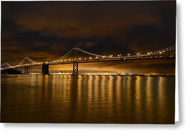 San Francisco - Bay Bridge At Night Greeting Card