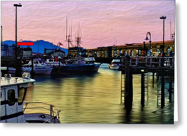 San Francisco Bay Greeting Card by Camille Lopez