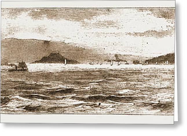 San Francisco Bay, From The Golden Gate, 1883 Greeting Card by Litz Collection