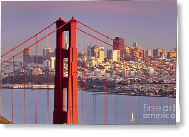 San Francisco Greeting Card by Brian Jannsen