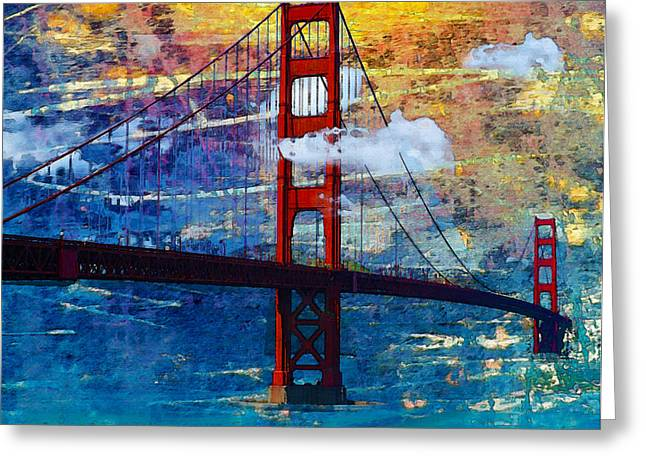 San Francisco Bridge Greeting Card