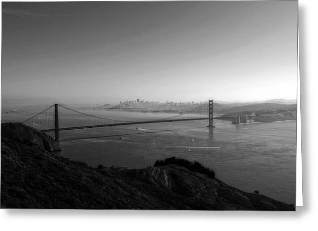 San Francisco Bw Greeting Card