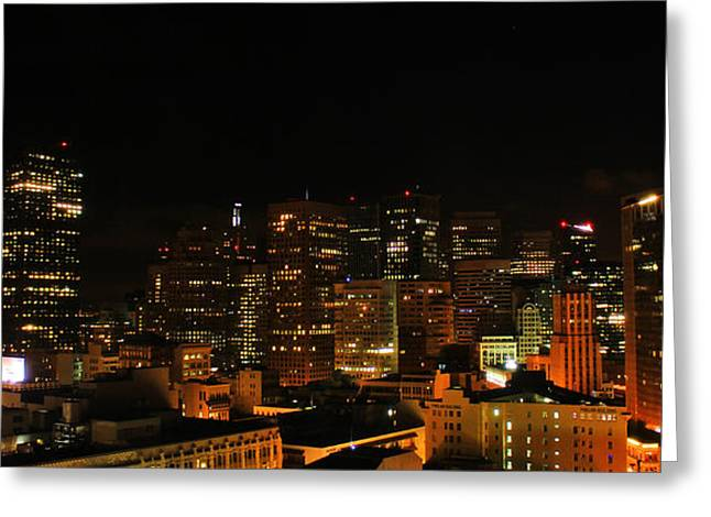San Francisco By Night Greeting Card by Cedric Darrigrand