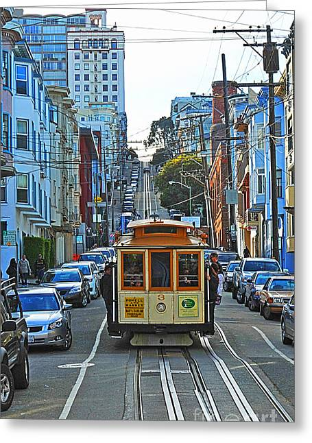San Francisco Cable Car To Powell And Market Streets Greeting Card