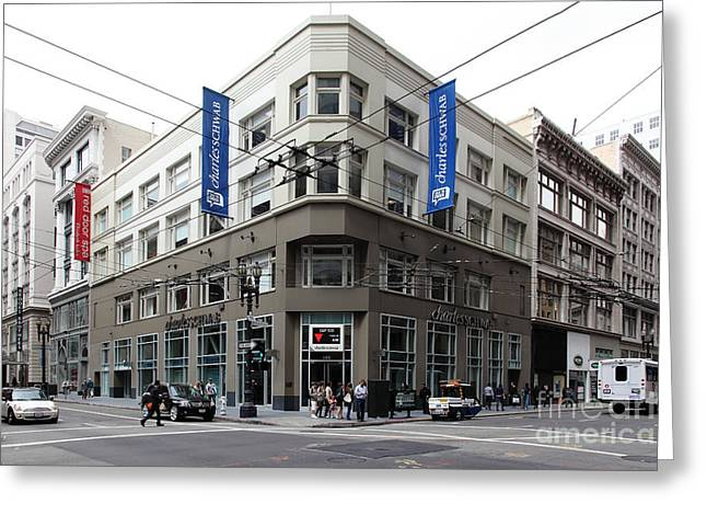 San Francisco Charles Schwab On Kearney Street - 5d17865 Greeting Card