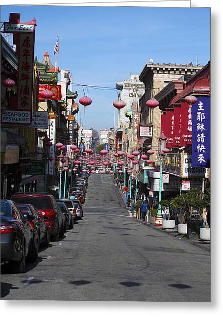 San Francisco Chinatown Greeting Card by Christopher Winkler
