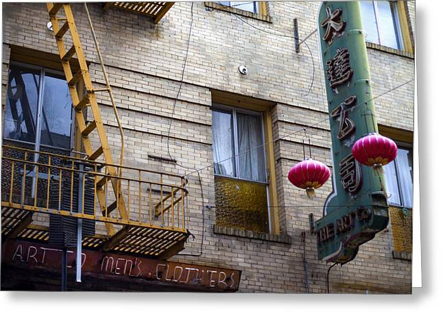 San Francisco Chinatown Golden Escape Greeting Card by SFPhotoStore