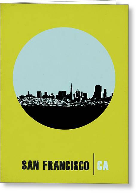 San Francisco Circle Poster 2 Greeting Card