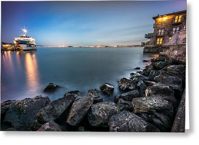 San Francisco Citiyscape From Sausalito United States Greeting Card by Giuseppe Milo