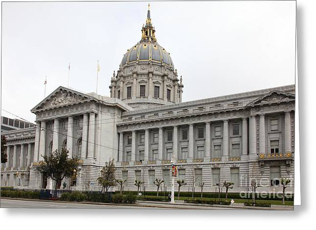 San Francisco City Hall 5d22481 Greeting Card by Wingsdomain Art and Photography