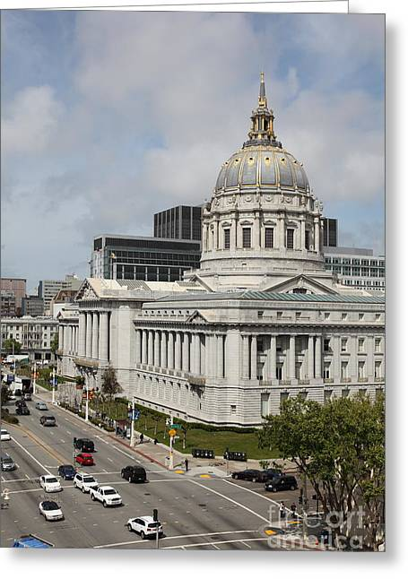 San Francisco City Hall 5d22513 Greeting Card by Wingsdomain Art and Photography