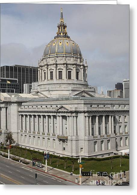 San Francisco City Hall 5d22544 Greeting Card by Wingsdomain Art and Photography