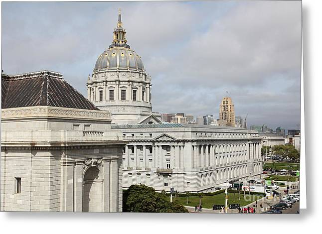 San Francisco City Hall 5d22547 Greeting Card by Wingsdomain Art and Photography