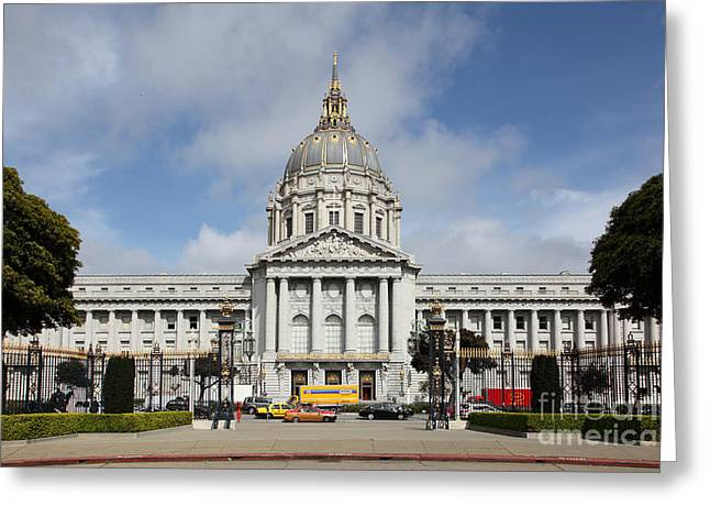 San Francisco City Hall 5d22569 Greeting Card by Wingsdomain Art and Photography