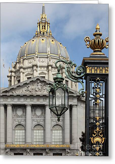 San Francisco City Hall 5d22576 Greeting Card by Wingsdomain Art and Photography