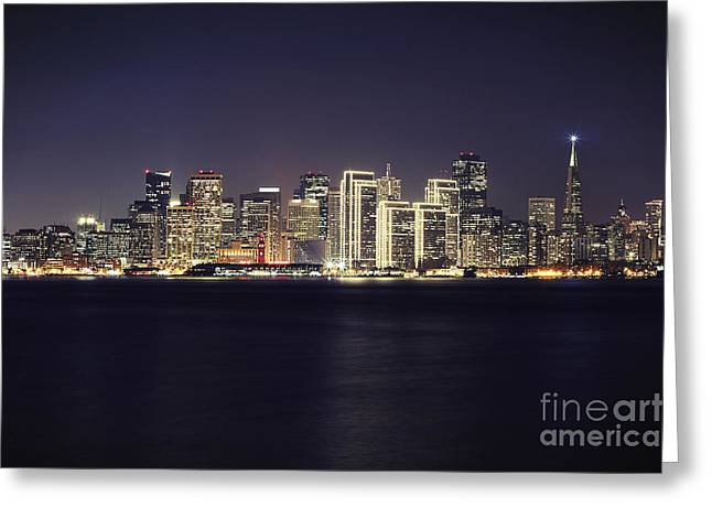 San Francisco Holiday Skyline II Greeting Card