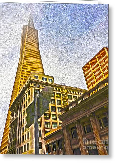 San Francisco - Cityscape - 05 Greeting Card by Gregory Dyer