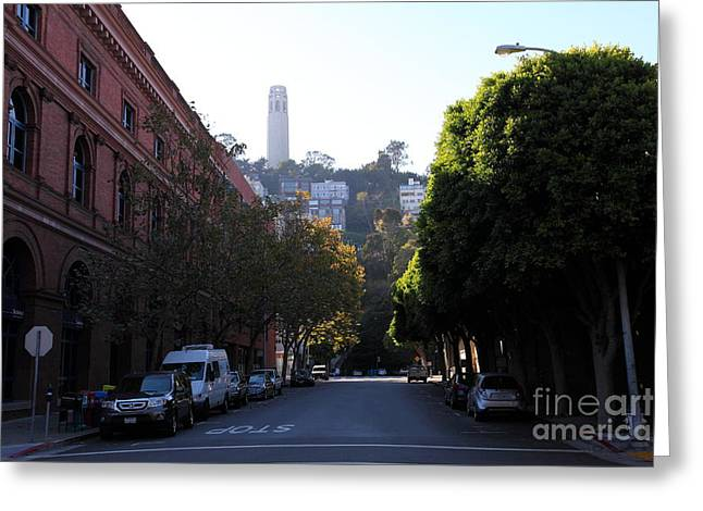 San Francisco Coit Tower 5d26177 Greeting Card by Wingsdomain Art and Photography