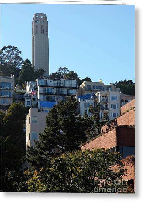 San Francisco Coit Tower At Levis Plaza 5d26192 Greeting Card