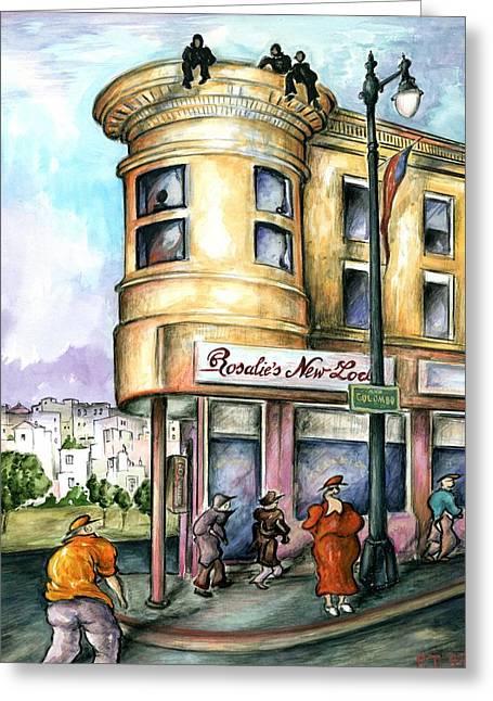 San Francisco North Beach - Watercolor Art Painting Greeting Card