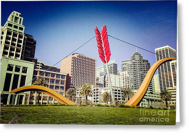 San Francisco Cupid's Span Greeting Card by Colin and Linda McKie