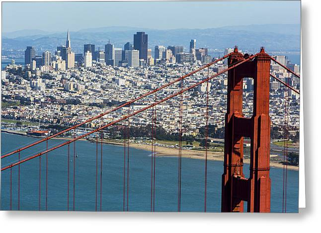 San Francisco Greeting Card by Dave Cleaveland