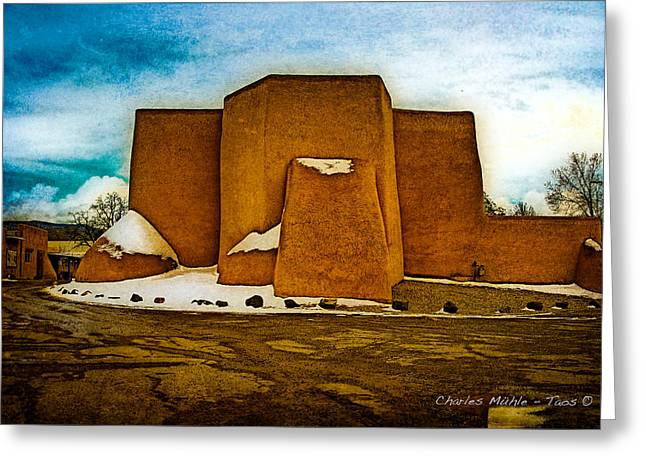 San Francisco De Asis Greeting Card by Charles Muhle