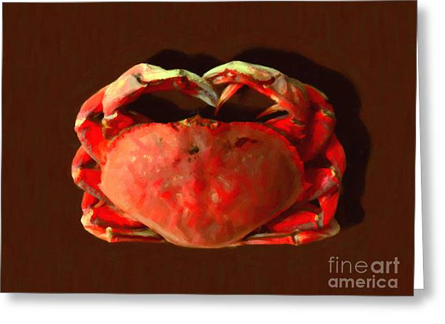 San Francisco Dungeness Crab - Painterly Greeting Card