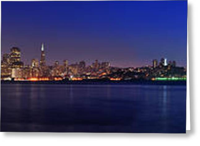 San Francisco Dusk Panorama Greeting Card