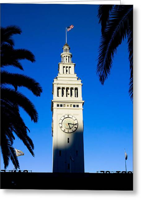 San Francisco Ferry Building Clock Tower Greeting Card by David Smith