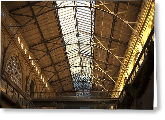 San Francisco Ferry Building Interior Greeting Card by SFPhotoStore