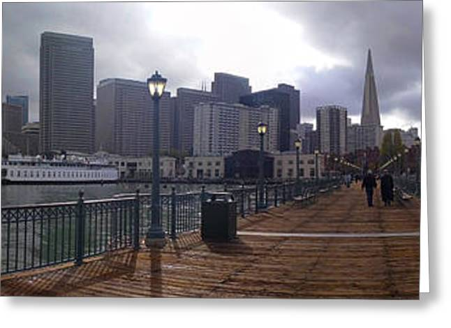 San Francisco From Pier Greeting Card