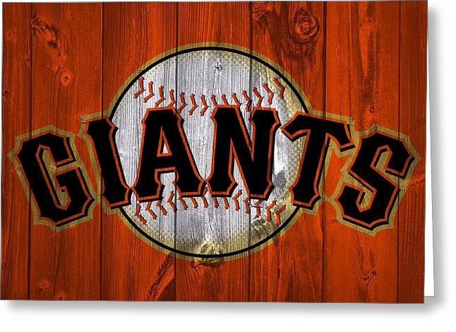 San Francisco Giants Barn Door Greeting Card
