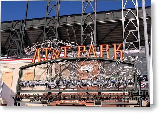 San Francisco Giants World Series Baseball At Att Park Dsc1901 Greeting Card by Wingsdomain Art and Photography
