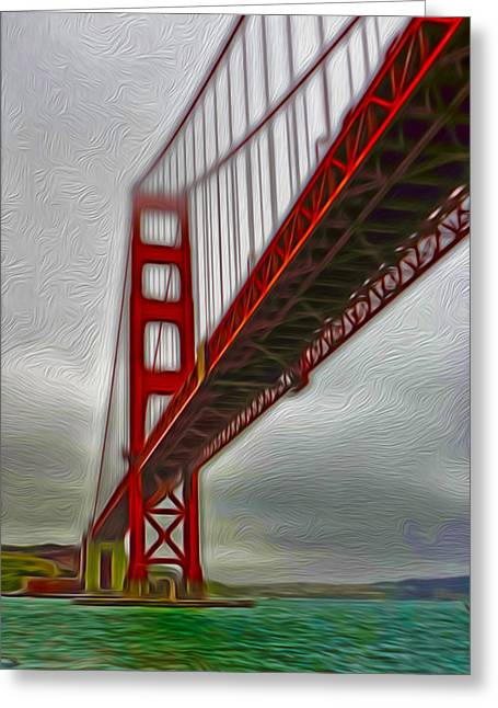 San Francisco - Golden Gate Bridge - 02 Greeting Card by Gregory Dyer