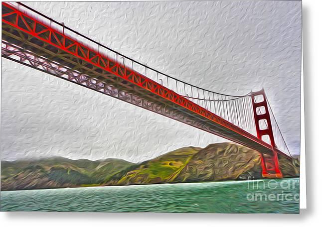 San Francisco - Golden Gate Bridge - 03 Greeting Card by Gregory Dyer