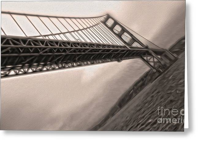 San Francisco - Golden Gate Bridge - 04 Greeting Card by Gregory Dyer