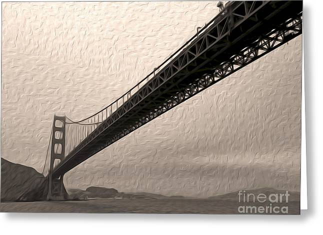San Francisco - Golden Gate Bridge - 05 Greeting Card by Gregory Dyer