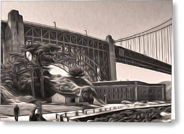 San Francisco - Golden Gate Bridge - 06 Greeting Card by Gregory Dyer