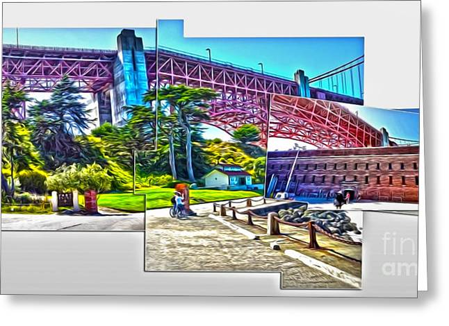 San Francisco - Golden Gate Bridge - 09 Greeting Card by Gregory Dyer