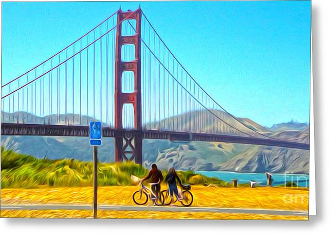 San Francisco - Golden Gate Bridge - 13 Greeting Card