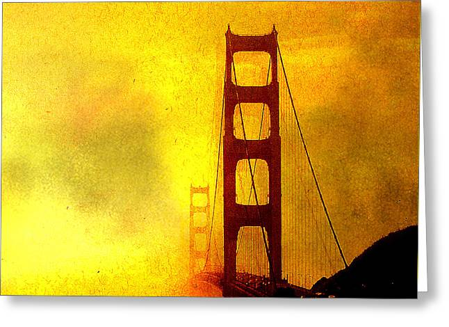 San Francisco Golden Gate Bridge Commute In Sun And Fog Greeting Card