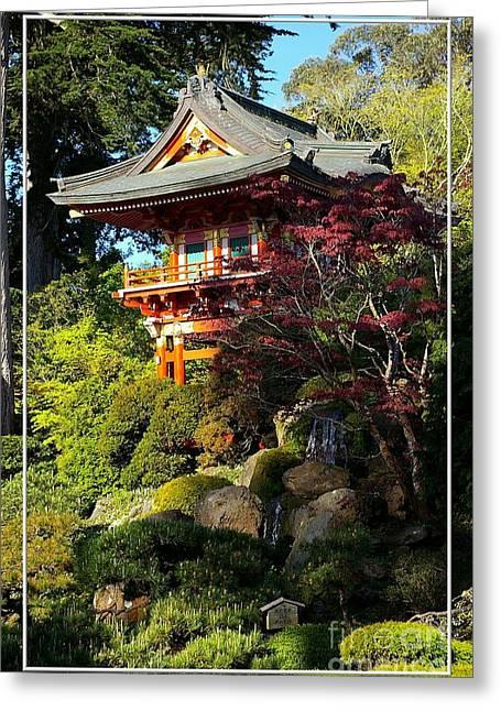 San Francisco Golden Gate Park Japanese Tea Garden 10 Greeting Card by Robert Santuci